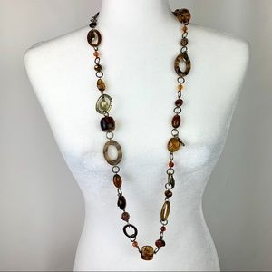 Premier Designs Gold and Tortoise Shell Necklace